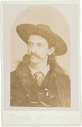 """Photography:Cabinet Photos, Lone Star Harry: Cabinet Card of """"America's RepresentativeScout""""...."""