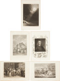 Antiques:Posters & Prints, 15 Engravings Featuring Religious Scenes. From The Works of That Eminent Servant of Christ, John Bunyan, Minister of the G...