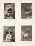Antiques:Posters & Prints, Four Engraved Portraits of Noted 19th Century Naval Officers. From National Portrait Gallery of Eminent Americans... New... (Total: 7 Original Art Items)