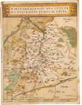 Antiques:Posters & Prints, Abraham Ortelius. Map from Theatrum Orbis Terrarum ca. 1570[dated 1558]. Copper-engraved map, Wirtenbergensis Duc...