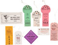 Baseball Collectibles:Tickets, 1966 World Series Press Credentials Lot of 8, With OriginalEnvelope....