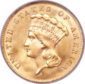 Three Dollar Gold Pieces, 1889 $3 MS66+ PCGS....
