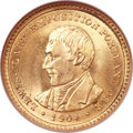 Commemorative Gold, 1904 G$1 Lewis and Clark MS65 NGC....