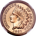 Indian Cents, 1863 1C MS67 NGC....