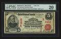 National Bank Notes:Maryland, Baltimore, MD - $5 1902 Red Seal Fr. 587 The National MechanicsBank Ch. # (E)1413. ...