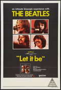 "Movie Posters:Rock and Roll, Let It Be (United Artists, 1970). Australian One Sheet (27"" X 40"").Rock and Roll.. ..."