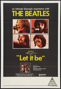 """Let It Be (United Artists, 1970). Australian One Sheet (27"""" X 40""""). Rock and Roll"""
