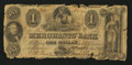 Obsoletes By State:Rhode Island, Providence, RI- Merchants' Bank Altered $1 Jan. 1, 1859. ...