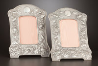 TWO CHINESE SILVER PICTURE FRAMES Maker unidentified, Shanghai, China, 1875-1930 Marks: (shop mark), (shop ma
