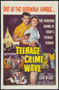 "Movie Posters:Exploitation, Teenage Crime Wave (Columbia, 1955). One Sheet (27"" X 41"").Exploitation.. ..."