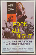 """Movie Posters:Rock and Roll, Rock All Night (American International, 1957). One Sheet (27"""" X41""""). Rock and Roll.. ..."""