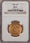 Liberty Eagles: , 1882 $10 MS61 NGC. NGC Census: (5275/4056). PCGS Population(2051/1983). Mintage: 2,324,480. Numismedia Wsl. Price for prob...