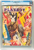 Magazines:Vintage, Playboy V2#10 (HMH Publishing, 1955) CGC VF- 7.5 White pages....