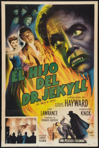 "The Son of Dr. Jekyll (Columbia, 1951). Spanish Language One Sheet (27"" X 41""). Horror"