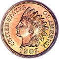 Proof Indian Cents, 1902 1C PR67 Red PCGS. Eagle Eye Photo Seal. CAC....