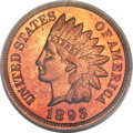 Proof Indian Cents, 1893 1C PR65 Red Cameo PCGS....