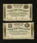 Obsoletes By State:New Hampshire, Alton, NH- J. Jones & A.H. Sawyer 5¢; 10¢ Nov. 26, 1862. ... (Total: 2 notes)