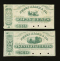 Obsoletes By State:Ohio, Zanesville, OH- Peter Black & Co. 25¢; 50¢ Nov. 20, 1862. ...(Total: 2 notes)