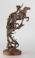 Sculpture, FROM THE COLLECTION OF SUSAN & ALLEN COLES. JAMES ROYBAL (American, b.1952). Rebirth of a Warrior, 1979. Bronze. 27-3/...