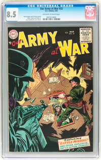 Our Army at War #32 (DC, 1955) CGC VF+ 8.5 Off-white to white pages