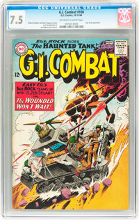 G.I. Combat #108 (DC, 1964) CGC VF- 7.5 Off-white to white pages