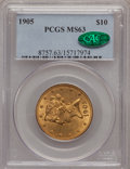 Liberty Eagles: , 1905 $10 MS63 PCGS. CAC. PCGS Population (207/102). NGC Census:(243/158). Mintage: 200,900. Numismedia Wsl. Price for prob...