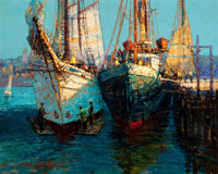 FROM THE COLLECTION OF SUSAN & ALLEN COLES  JOHN CHARLES TERELAK (American, b.1942) Cloucester Harbor