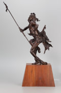 Sculpture, FROM THE COLLECTION OF SUSAN & ALLEN COLES. HOLLIS WILLIFORD (American, 1940-2007). Scalptaker's Dance. Bronze. 34 inc...