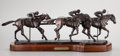 Fine Art - Sculpture, American:Contemporary (1950 to present), FROM THE COLLECTION OF SUSAN & ALLEN COLES. BOB PARKS (American, b.1948). On the Rail, 1982. Bronze. 10 x 37 x 9 inche...