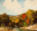 Paintings, ROBERT WILLIAM WOOD (American, 1889-1979). Autumn Landscape. Oil on canvas. 20 x 24 inches (50.8 x 61.0 cm). Signed lowe...