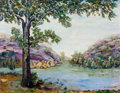 Texas:Early Texas Art - Regionalists, CLARA PANCOAST (American, 1872-1959). River Landscape . Oilon canvas . 17 x 21-1/4 inches (43.2 x 54.0 cm). Signed lowe...