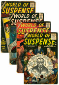 Golden Age (1938-1955):Horror, World of Suspense #1 and 6-8 Group (Atlas, 1956-57) Condition:Average FR.... (Total: 4 )
