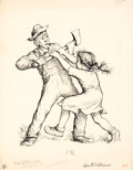 Paintings, GARTH MONTGOMERY WILLIAMS (American, 1912-1996). Please Don't Kill It, Charlotte's Web, page 2 illustration, 1952. Ink o...