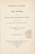 Books:First Editions, [British Regiments]. Historical Record of the Fourth, or theKing's Own, Regiment of Foot. London: Longman, Orme and...