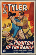 "Movie Posters:Western, The Phantom of the Range (Victory, 1936). One Sheet (27"" X 41"").Western.. ..."