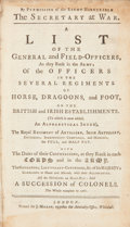 Books:Non-fiction, [British Army List]. A List of the General and Field-Officers, as they Rank in the Army... London: J. Millan, [1767]...