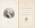 Books:First Editions, [Friedrich Adolf Riedesel]. Memoirs, and Letters and Journals,of Major General Riedesel, During His Residence in Americ...(Total: 2 Items)