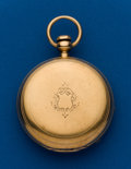 Timepieces:Pocket (pre 1900) , Waltham, Appleton Tracy & Co. Model 57, 18k Gold Hunters Case....