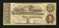 Confederate Notes:1863 Issues, T60 $5 1863.. ...