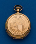 Timepieces:Pocket (post 1900), Elgin, 6 Size, 14k Gold Hunters Case. ...