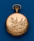Timepieces:Pocket (post 1900), Waltham, 6 size, 14k Gold Hunters Case. ...