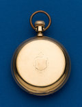 Timepieces:Pocket (post 1900), Waltham, 16 Size, Park Road, Model 72, 18k Gold Hunters Case. ...