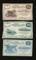 Obsoletes By State:Ohio, Cuyahoga Falls, OH- W.A. Hanford payable at Summit County Bank 5¢;10¢; 25¢ Oct. 1862. ... (Total: 3 notes)