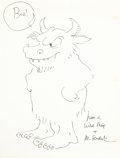 Mainstream Illustration, MAURICE SENDAK (American, b. 1928). Have a Wild Thing. Penon paper. 11 x 8.5 in.. Signed lower right. ...