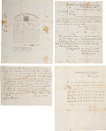 Autographs:Military Figures, Civil War Slave Enlistments: Four Documents concerning slaves belonging to the Prather family of Missouri. Three documents c... (Total: 4 Items)