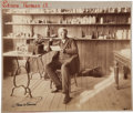 """Autographs:Inventors, Thomas Edison Photograph Signed """"Thos. A Edison"""" in darkink, ca. 1887. In this fascinating photograph (9.75"""" x 8"""")..."""