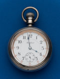 Timepieces:Pocket (post 1900), Rockford, Sterling with Gold Inlay, 18 Size, 21 Jewel #932049. ...