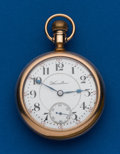 Timepieces:Pocket (post 1900), Hamilton 940, Gold Filled, 18 Size, 21 Jewel. ...