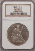 Seated Dollars, 1845 $1 AU55 NGC....
