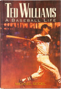 "Baseball Collectibles:Publications, Ted Williams Signed ""A Baseball Life"" Hardcover Book...."